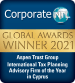 Corporate Intl award