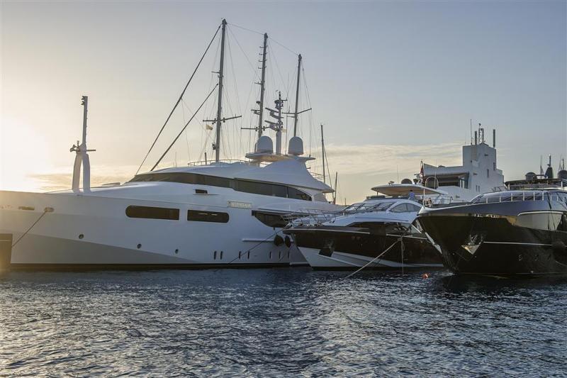 Yacht at Limassol Marina