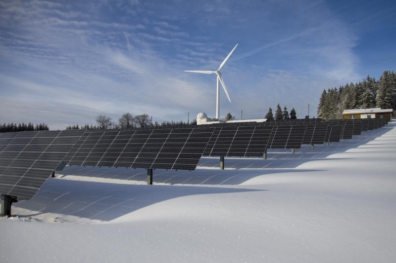 solar energy in winter in Cyprus